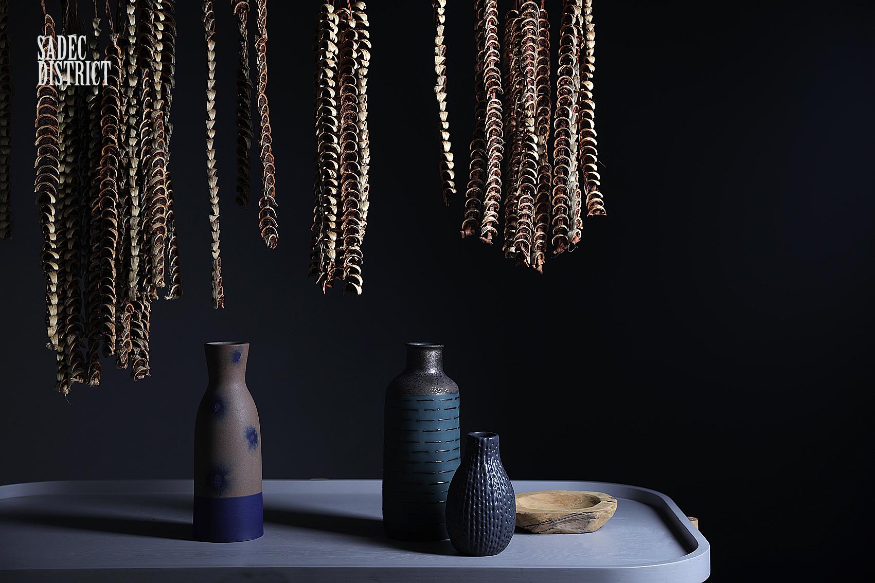 night life ceramic vase